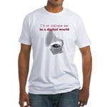 I'm an analogue Fitted T-Shirt