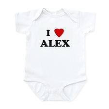 I Love ALEX Onesie