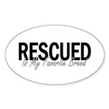 Rescued is My Favorite Breed Oval Decal