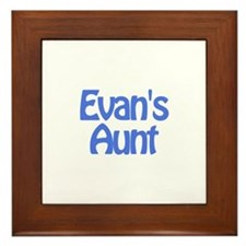 Evan's Aunt Framed Tile