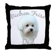 Bichon Dad2 Throw Pillow