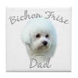 Bichon Dad2 Tile Coaster