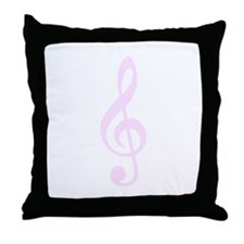 Musical PINK Throw Pillow