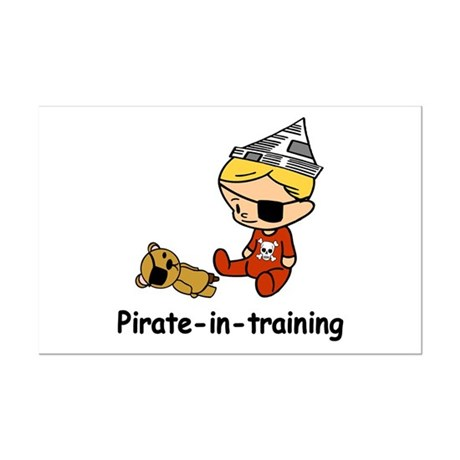 Pirate-in-training Mini Poster Print