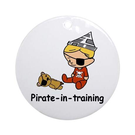 Pirate-in-training Ornament (Round)