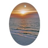 Pensacola Beach Sunrise Oval Ornament
