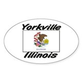 Yorkville Illinois Oval Decal