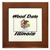 Wood Dale Illinois Framed Tile