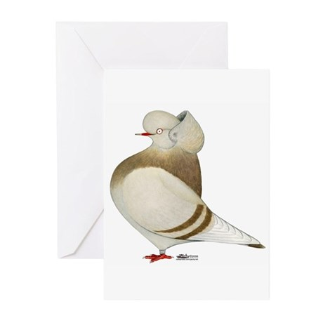 Khaki Cap Pigeon Greeting Cards (Pk of 10)