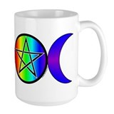 Triple Moon Pentacle Mug - Rainbow