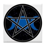 Pentacle Triple Moon Tile - Celestial