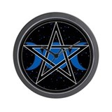 Pentacle Triple Moon Wall Clock - Celestial