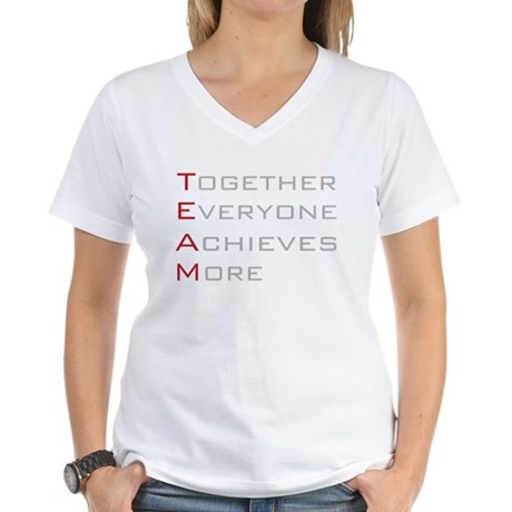 TEAM Together Everyone Achieves Women's V-Neck T-S