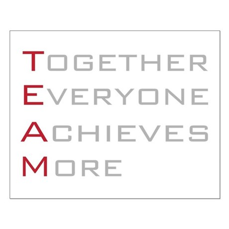 TEAM Together Everyone Achieves Small Poster