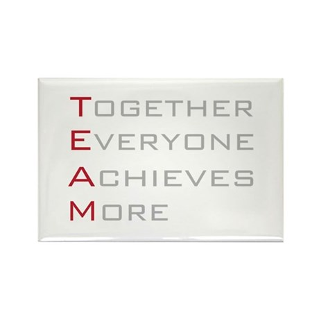 TEAM Together Everyone Achieves Rectangle Magnet (