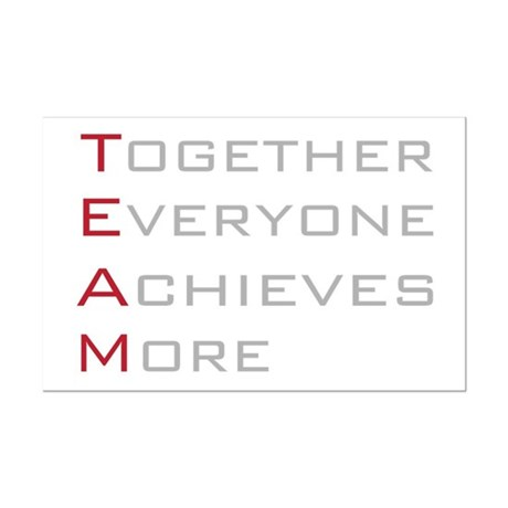 TEAM Together Everyone Achieves Mini Poster Print