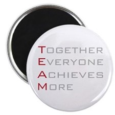 "TEAM Together Everyone Achieves 2.25"" Magnet (100"