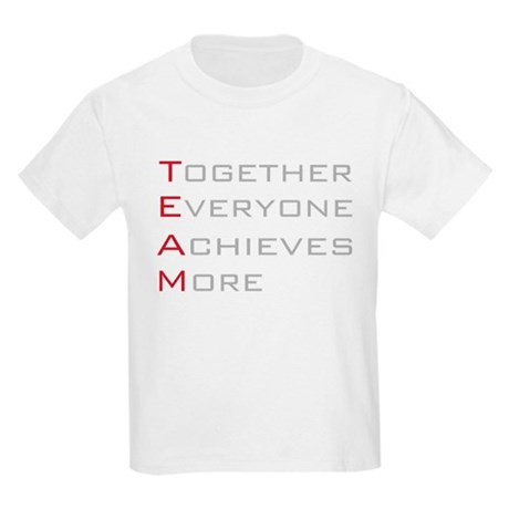 TEAM Together Everyone Achieves Kids Light T-Shirt