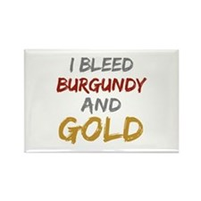 I Bleed Burgundy and gold Rectangle Magnet (10 pac