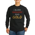 I Bleed Burgundy and gold Long Sleeve Dark T-Shirt