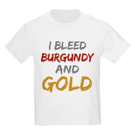 I Bleed Burgundy and gold Kids Light T-Shirt