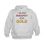I Bleed Burgundy and gold Kids Hoodie