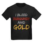 I Bleed Burgundy and gold Kids Dark T-Shirt
