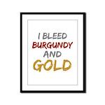 I Bleed Burgundy and gold Framed Panel Print