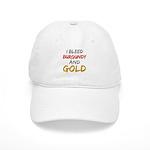 I Bleed Burgundy and gold Cap