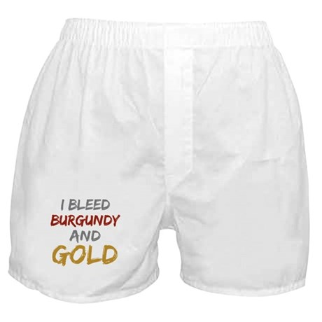 I Bleed Burgundy and gold Boxer Shorts