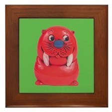 Vintage Toy Walrus Framed Tile