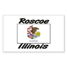 Roscoe Illinois Rectangle Decal