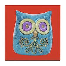 Toy Modern Owl Art Tile Drink Coaster