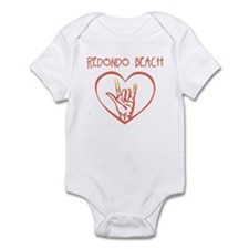 REDONDO BEACH (hand sign) Infant Bodysuit