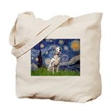 Starry Night & Dalmatian Tote Bag