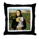Mona Lisa (new) & Dalmatian Throw Pillow