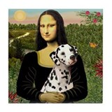Mona Lisa (new) & Dalmatian Tile Coaster