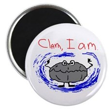 "Clam, I am 2.25"" Magnet (100 pack)"