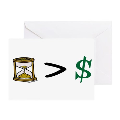 Time Greater Money Greeting Cards (Pk of 10)