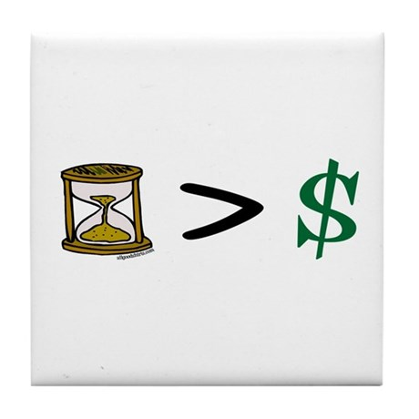 Time Greater Money Tile Coaster