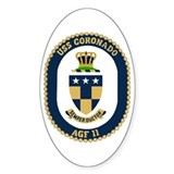 USS Coronado (AGF 11) Oval Decal