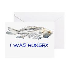 Fish Skeleton Greeting Card