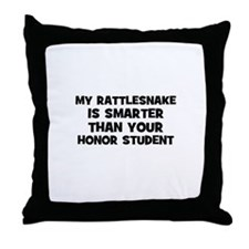my rattlesnake is smarter tha Throw Pillow