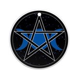 Round OrnamentPentacle Triple Moon - Celestial
