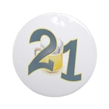 "21st Birthday ""BEER"" Ornament (Round)"