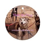 Un-Pretty Sled Dogs Ornament (Round)