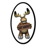 Moose Joy Oval Decal