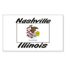 Nashville Illinois Rectangle Decal