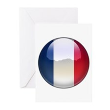 France Flag Jewel Greeting Cards (Pk of 10)