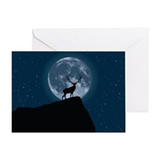Stag Moon Greeting Card